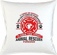 Animal Rescuer Forever Schlafsofa Home Décor Kissen Kissenbezug Fall Weiß