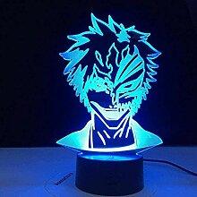 Anime 3D Illusion Lampe LED Nachtlicht Bleach