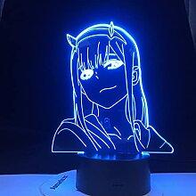 Anime 3d Lampe Null Zwei Figur Nachtlicht Kinder
