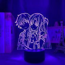 Anime 3d Lampe Schwert Kunst Online Figur für