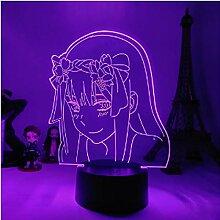 Anime 3D Lampe Zero Two Figur Nachtlicht Kinder