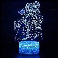 Anime 3D Licht Nachtlicht Farbwechsel LED Touch