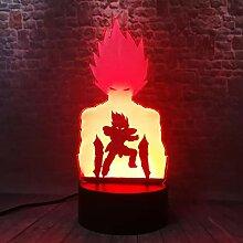 Anime-Action-Figuren Hologramm 3d Lampe