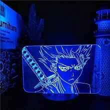 Anime Bleach Hitsugaya Toushirou 3D Lampe LED