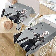 Anime Boy Pattern Tischdecke Wasserdicht
