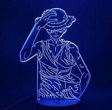 Anime Charakter Nachtlicht-3D Illusion Lampe, LED