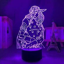 Anime Figur Illusion Lampe 3d Licht JoJo Bizarres