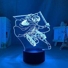 Anime Figur Illusion Lampe Angriff auf Titan Levi