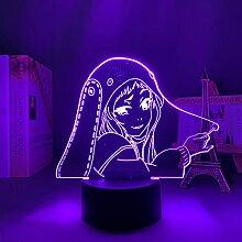Anime Figur Lampe 3D Licht Kakegurui Zwangsspieler