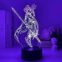 Anime Figur Lampe Genshin Impact Nachtlicht 3D