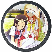 Anime Girl 2 Möbelknöpfe Kristall konvexe Linse