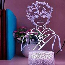 Anime Haikyuu Nachtlicht, 3D Illusion Licht,