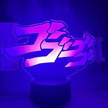 Anime JoJo Bizarre Adventure Letter Design LED