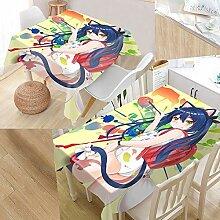 Anime Katze Mädchen Tischdecke wasserdicht