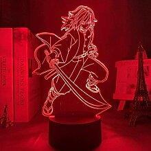 Anime Kimetsu No Yaiba Giyu Tomioka LED-Licht