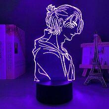 Anime Lampe 3D LED Licht Attack on Titan 4 Eren