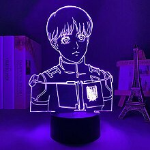 Anime Lampe 3D LED Licht Attack on Titan Armin