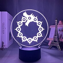 Anime Lichter 3d Led, Acryl Nachtlicht Lampe Manga