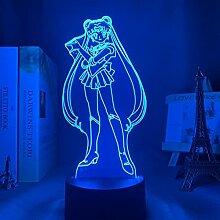Anime Lichter 3d Led, Sailor Moon Led Nachtlicht,
