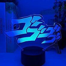 Anime Lights 3D LED, Anime JoJo's bizarre