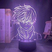 Anime My Hero Academia 3D-LED-Lampe, Nachtlicht,