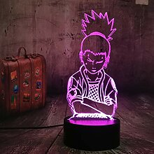 Anime Nara Shikamaru Naruto Lampe 3D LED