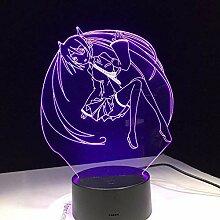 Anime Sailor Moon Cartoon Schönheit 3D Led Lampe