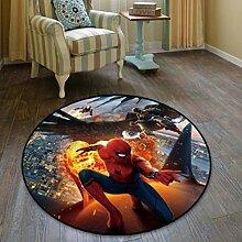 Anime Spider-Man Runde Teppich Schlanke Einfache