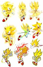 Anime Stickers 10 Stück Sonic The Hedgehog Sonic
