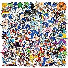 Anime Stickers 100 Stück animierte Igel Sonic