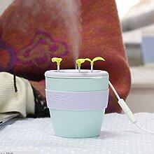 Anion Topfpflanze Luftbefeuchter Portable Ätherisches Öl Diffusor USB Desktop Cool Mist Luft Reinigt für Home Office Schlafzimmer Kinderzimmer