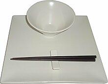 Anitex S1601-Sushi-Set, 11-teilig, weiß