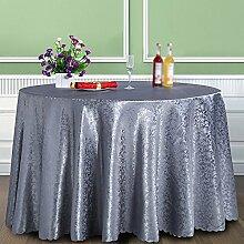 Anjcd European Style Silver Grey Tischdecke Modern Simplicity Bankett Tischdecke Couchtisch Tuch Restaurant ( größe : 280cm )