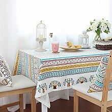 Anjcd Karikatur Tischdecke Pflanze Muster Pastoral Stil Tischdecke Tischdecke Couchtisch Stoff Restaurant ( Farbe : 1# , größe : 130*130cm )