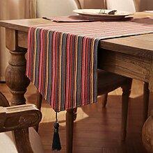 Anjcd Tischläufer TV Schrank Esstisch Schlafzimmer Teetisch Bett Flagge ( Farbe : A , größe : 35*180cm )