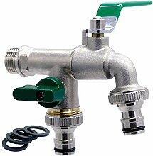 Anjing Premium Doppel-Auslauf Wasserhahn Messing