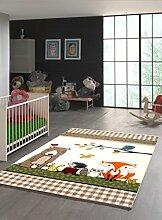 Anka Design Kinder Teppich lustige Tiere