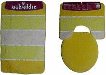 Anka Textil Badgarnitur 3-Teilig Badmatte Bad Set