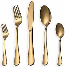 Ankamal Elec Besteck Set, Gold Besteck Set,