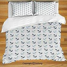 Anker Bettwäsche Bettbezug Set, einfache