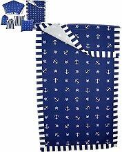 Anker maritime Küchentextilien Überhandtuch 70x100 cm blau weiß Streifen J. Schleiß / Deutschland (Überhandtuch 70x100 cm mit Durchzug)