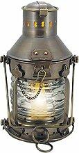 Ankerlampe Schiffslampe 24cm Messing elektrisch