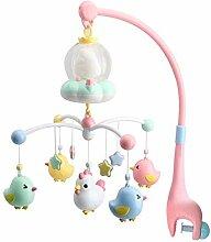 Ankoy Baby Krippe Mobile Spielzeug mit Nacht Licht
