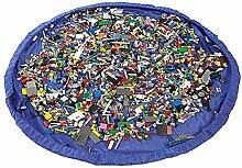 Anladia 150cm Blau Kinder Spielmatte Aufräumsack