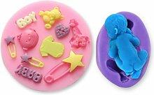 Anladia Silikon Baby Kinder Geburt Spielzeug