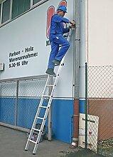 Anlegeleiter Krause Stabilo - 12 Sprossen einteilige, leichte Sprossenleiter
