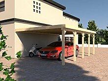 Anlehncarport Carport HARZ II 500x700cm Leimbinder Fichte + PVC-Dacheindeckung