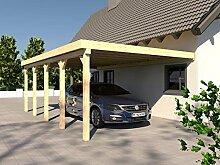 Anlehncarport Carport HARZ VI 400x700cm Leimbinder Fichte + PVC-Dacheindeckung