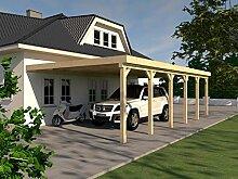 Anlehncarport Carport HARZ XI 500x900cm Leimbinder Fichte + PVC-Dacheindeckung