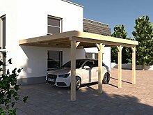 Anlehncarport Carport RHÖN IV 400x600cm KVH Konstruktions-Vollholz Bausatz Anlehn Carpor